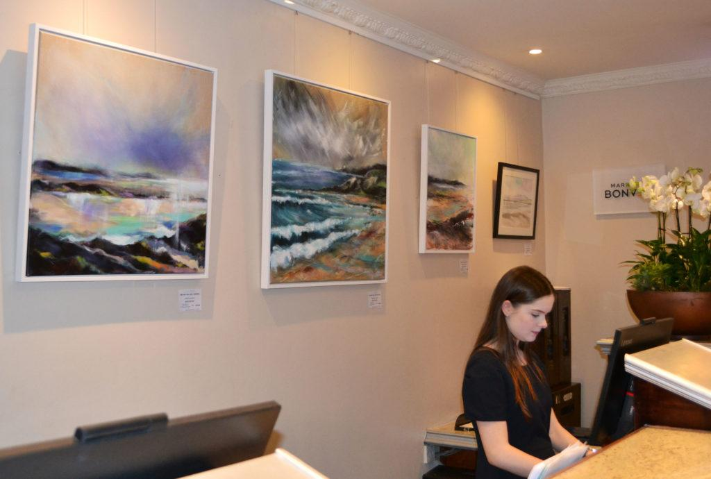 Charity exhibition at the Marriott Hotel, York, for Pyramid Gallery