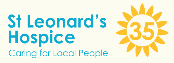 St Leonards Hospice logo and donate button