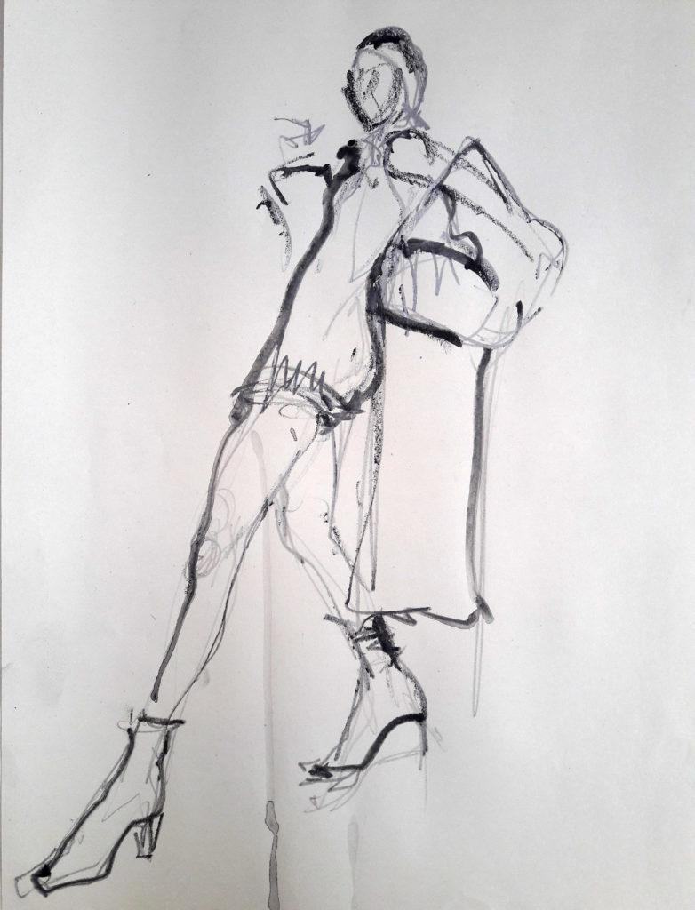 Vogue Life Drawing, online session. 2-minute pose
