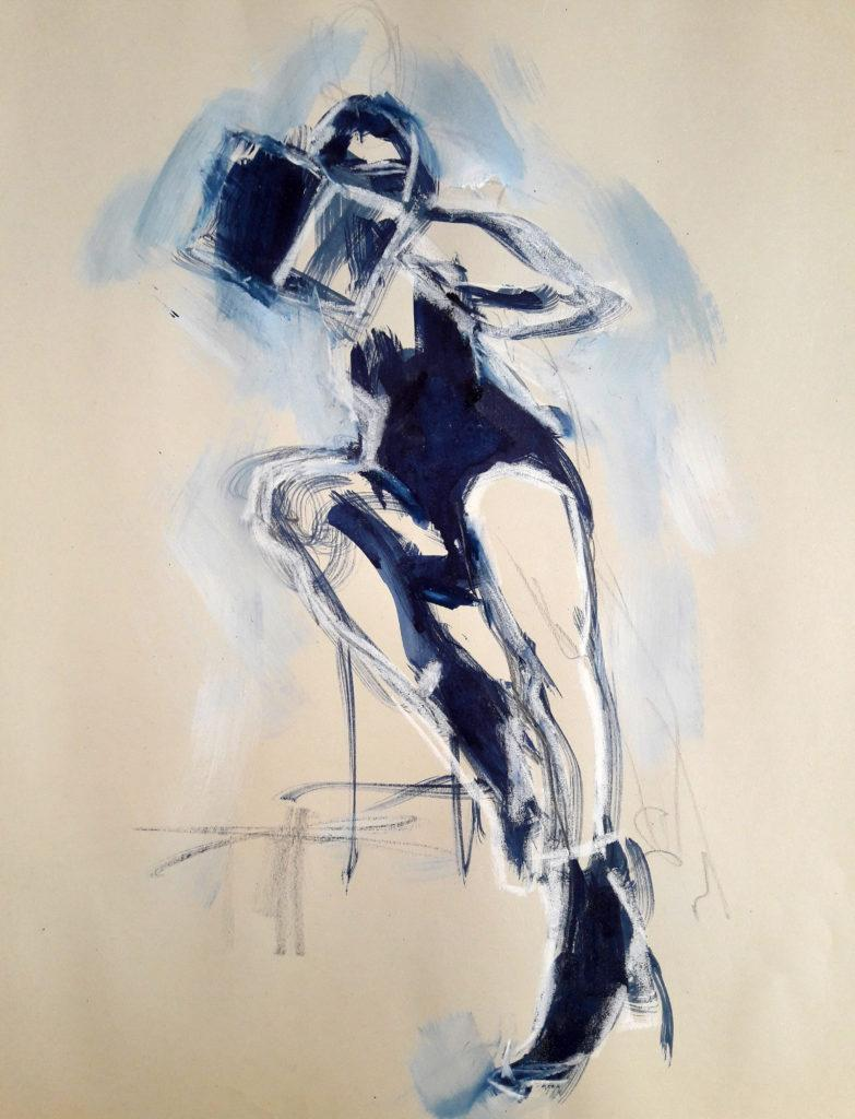 Vogue Life Drawing, online session. 5-minute pose