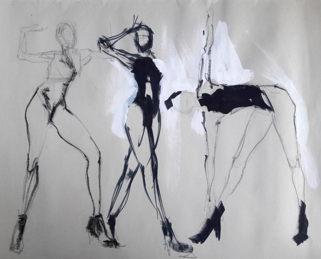 Vogue Life Drawing, online session. 2-minute poses