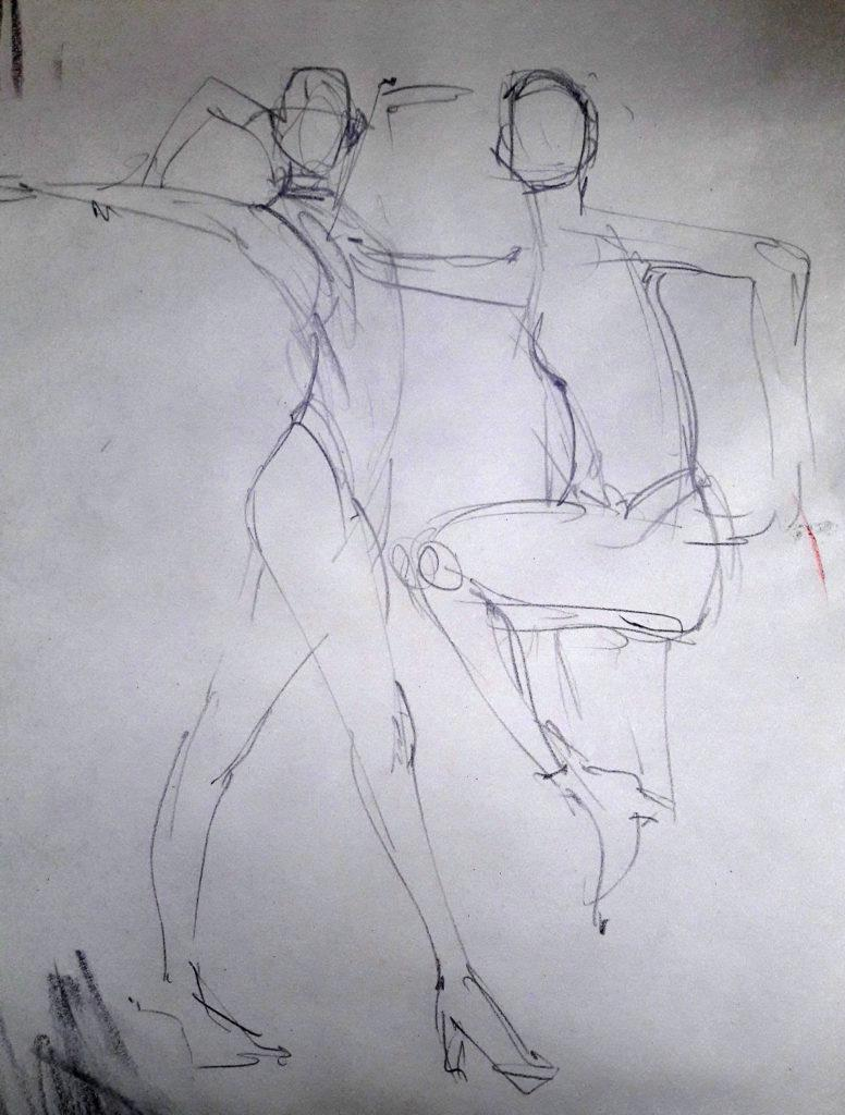 Vogue Life Drawing, online session. 1-minute poses