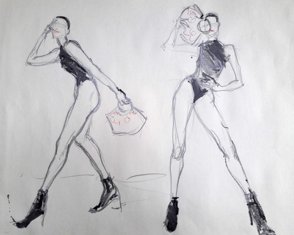 Vogue Life Drawing, online session. 5-minute poses