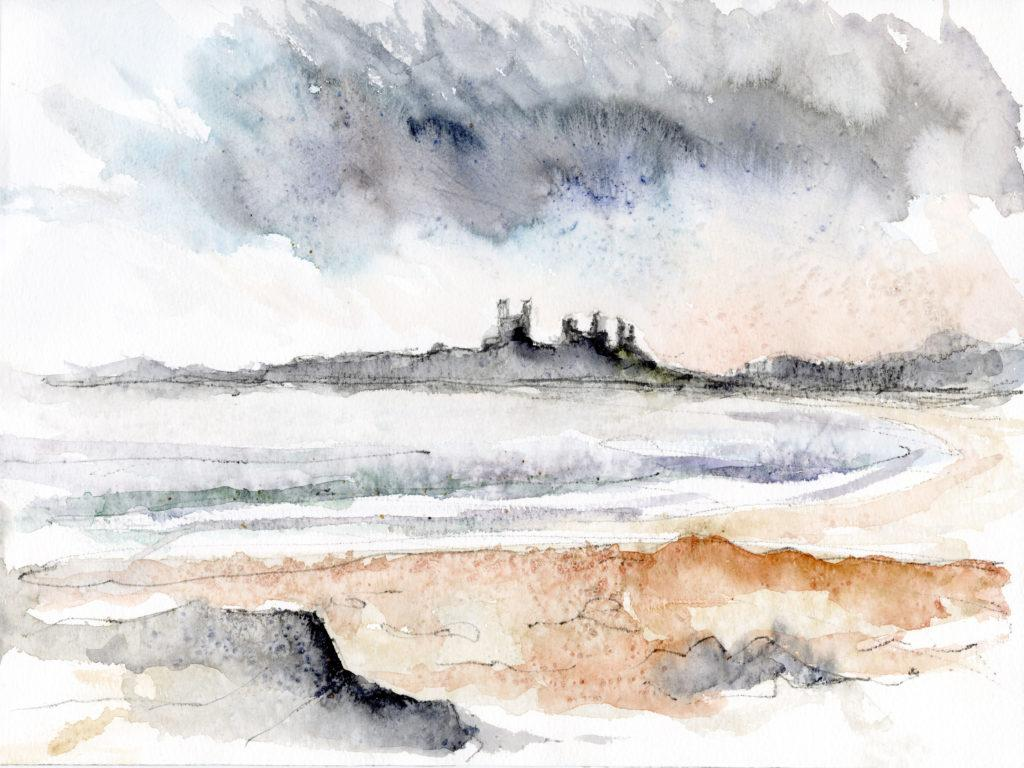 Rain Over Dunstanburgh Castle