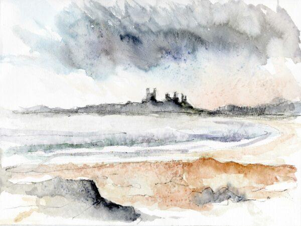 Rain Over Dunstanburgh Castle