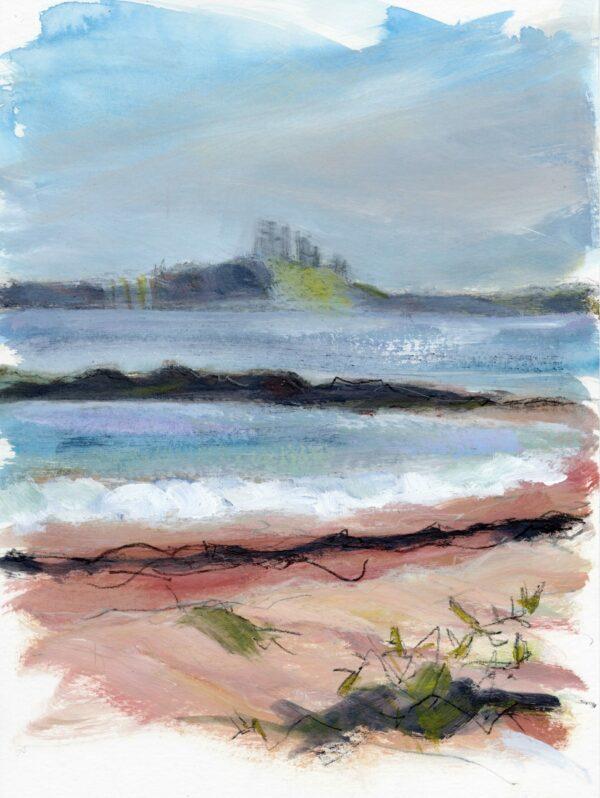 Hazy Dunstanburgh Castle